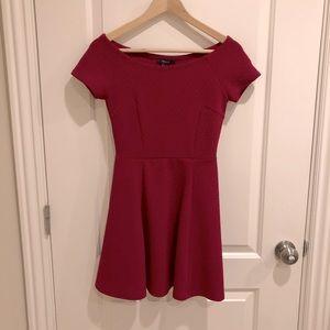Forever21 red off-shoulder dress